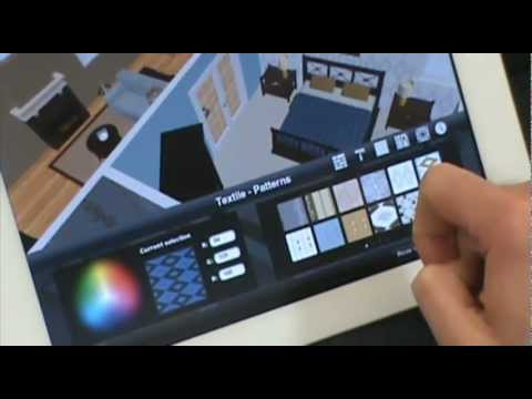 Room planner ipad home design app by chief architect youtube for Room design app using photos