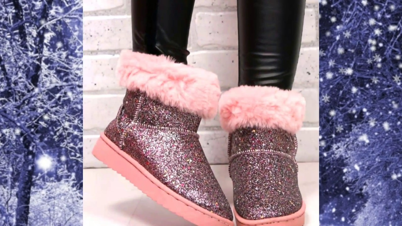 6cc6a1dd5 اجمل واحدث موضة احذية شتوية للبنات 2018 ‹ 2019 👢👟 The most beautiful  winter shoes