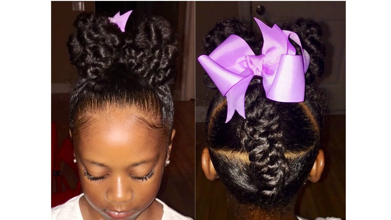 Ponytail Bow Updo | Kids Natural Hairstyle | IAMAWOG - YouTube