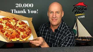ASMR Pizza Hut Pan Pizza~20,000 Subscriber Celebration~Soft Spoken