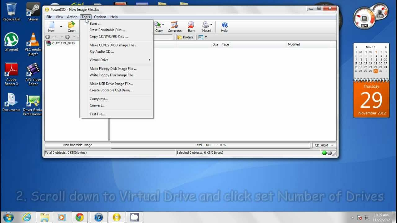 How to create a Virtual CD Drive with PowerISO - YouTube