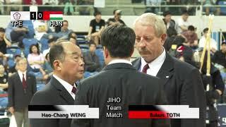 17th World Kendo Championships Men's TEAM MATCH 4ch Chinese Taipei vs Hungary