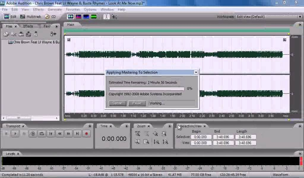 how to increase bass in adobe audition