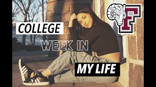 A WEEK IN THE LIFE OF A COLLEGE STUDENT VLOG | Fordham University