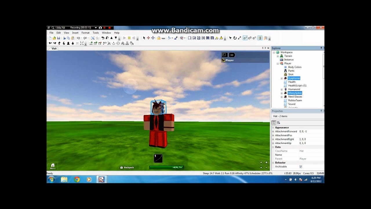 How To Insert Or Download Items In Roblox Inventory How To Change A Players Health Roblox