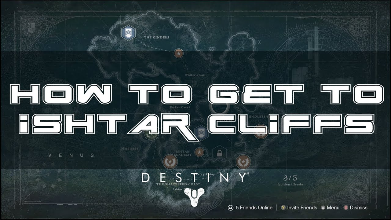 Destiny how to get to ishtar cliffs venus area where wanted bounty