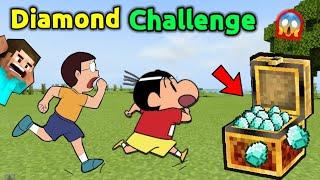 Diamond Challenge In Minecraft 🤑 || Shinchan Vs Nobita 😱 || Shinchan Minecraft || Doraemon Minecraft