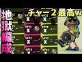【スプラトゥーン2】チャージャーが最強武器→チャー2でも余裕で勝てる説!?【S+50カンスト】