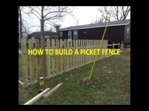 How To Build A Picket Fence By Yourself Diy Custom