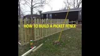 How To Build A Picket Fence Diy