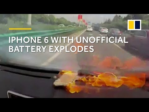 iPhone 6 explodes after battery is replaced with un one
