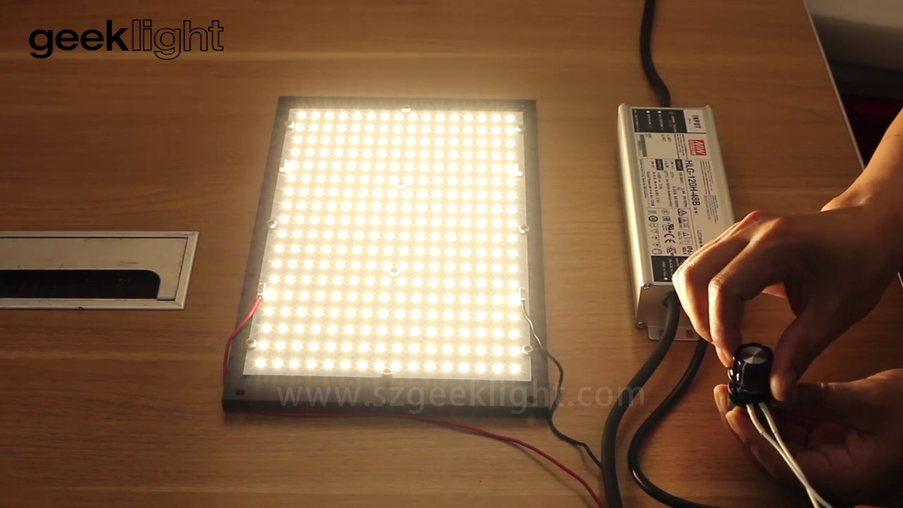 2019 best grow light 120W Dimmable Quantum board sansung LM301b 1pcs qb288  from GEEKLIGHT