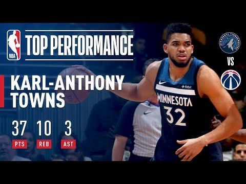 The Big KAT Drops 37 pts vs The Wizards