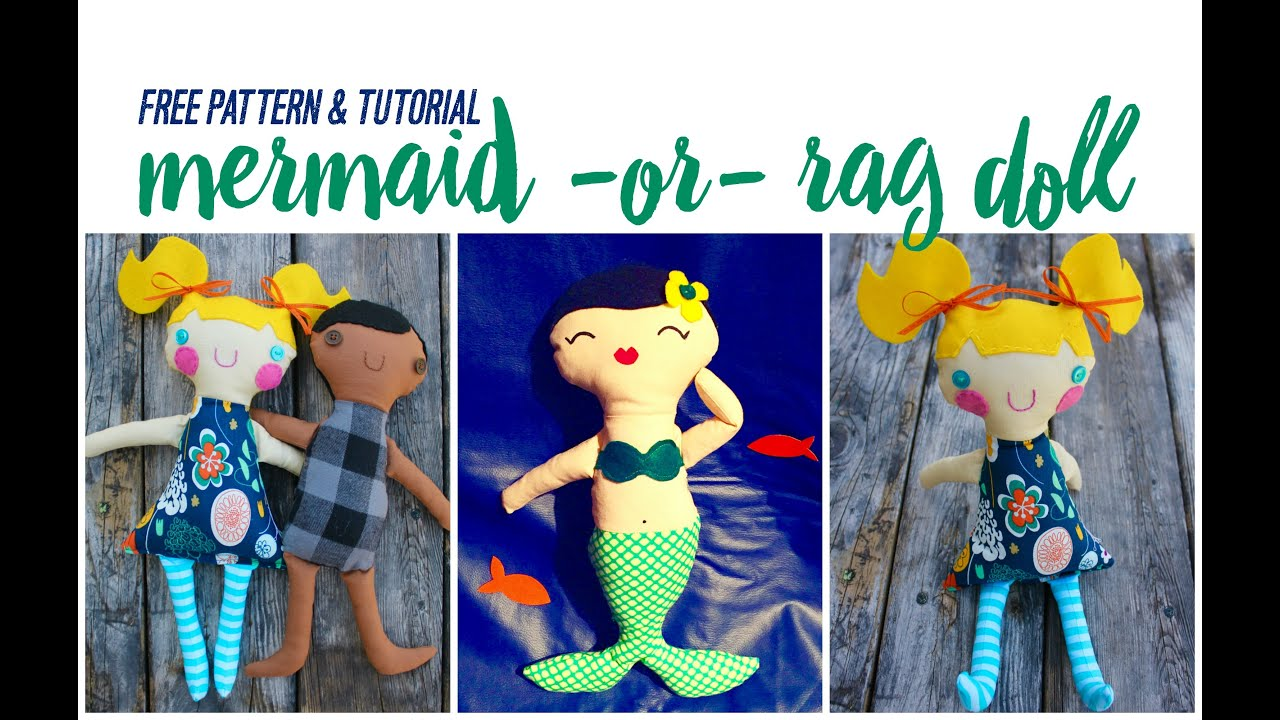 image regarding Printable Rag Doll Patterns identify Sew A Mermaid or Rag Doll Absolutely free Routine