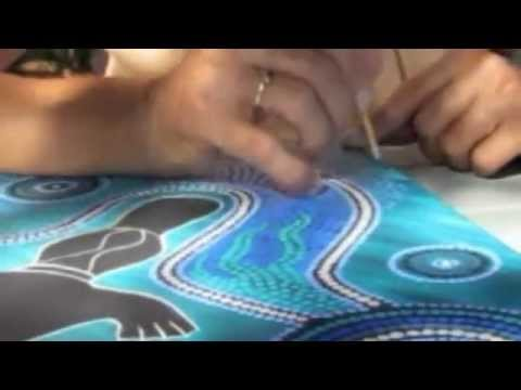 Aboriginal Art Dot Painting Youtube