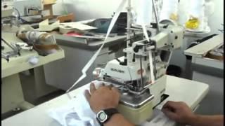 Overlock Siruba com aparelho de aplicar elástico