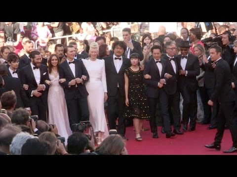 Tilda Swinton, Jake Gyllenhaal, Lily Collins and more on the red carpet for the Premiere of Okja