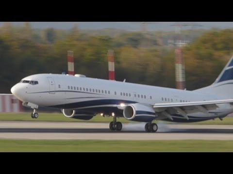 [FullHD] Mid East Jet Boeing 737-900ER(BBJ) landing at Geneva/GVA/LSGG