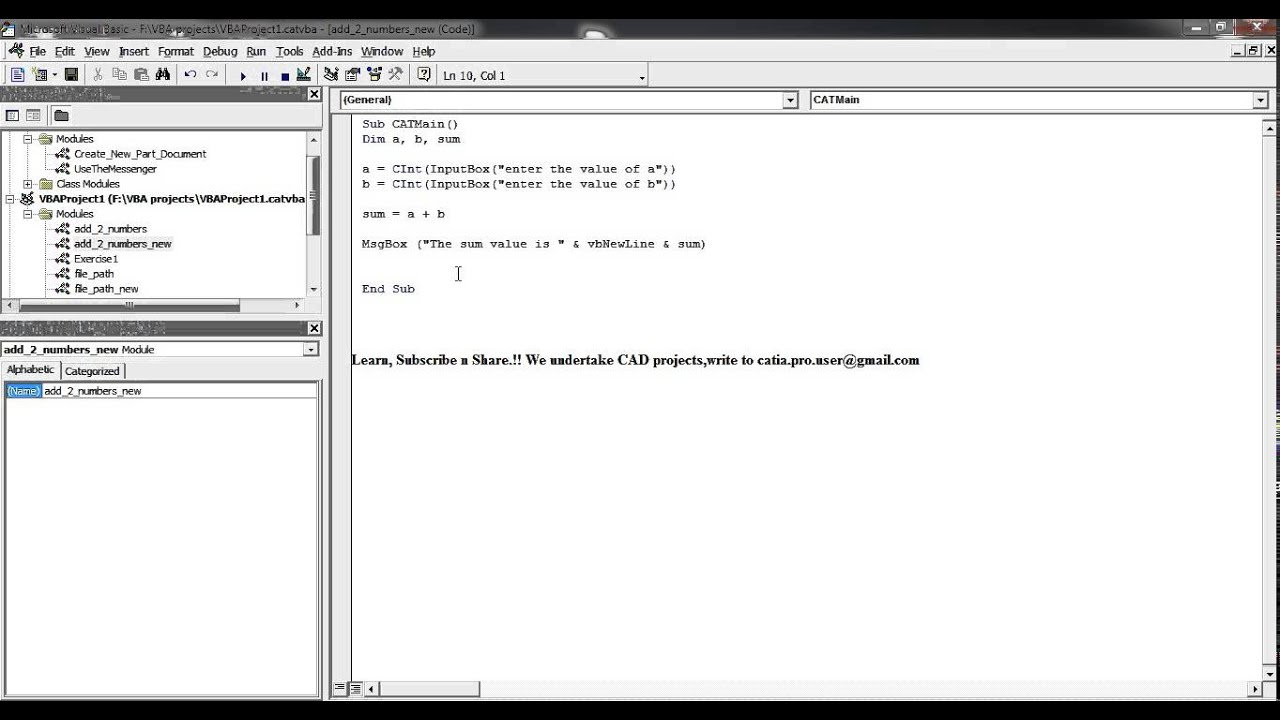 catia v5 macro tutorials vb scripting essentials do loop while rh youtube com VBA Macro UI VBA Macros for Word