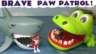 Repeat youtube video Paw Patrol Stop Motion Brave Pups with Thomas and Friends & Kinder Surprise Eggs Fun TT4U