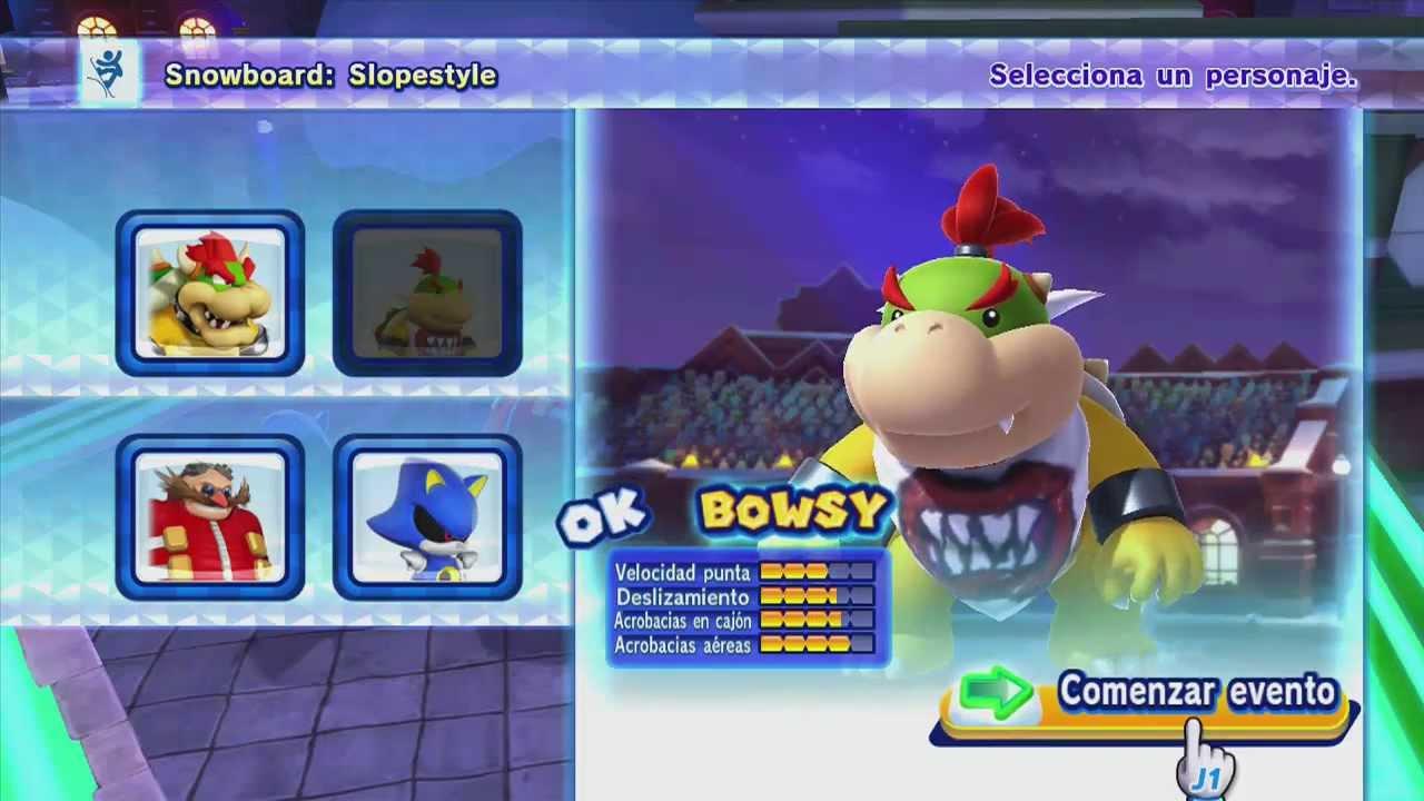 Mario Sonic En Los Jjoo De Invierno Sochi 2014 Leagues Showdown