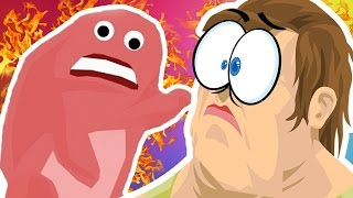 MONSTERS TAKE OVER HAPPY WHEELS (Happy Wheels Funny Moments)