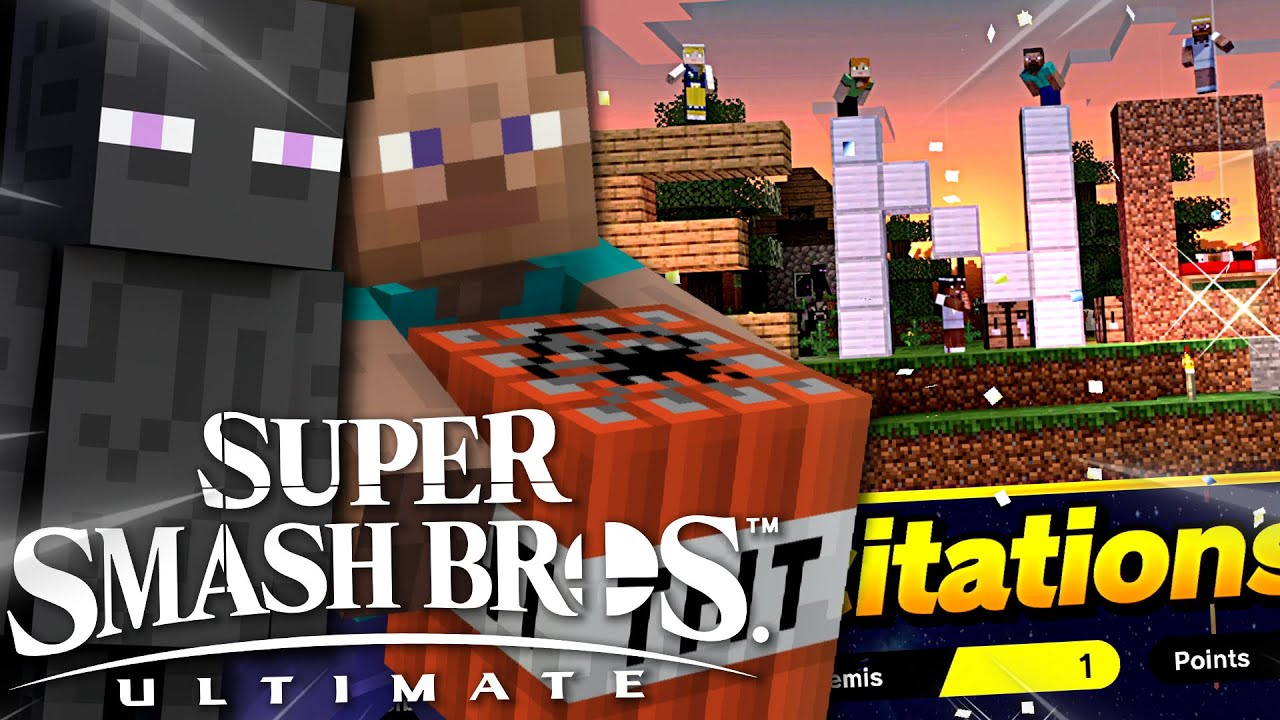 ON A FINI LE JEU AVEC LE MEILLEUR PERSO : STEVE ! MINECRAFT SUPERSMASH BROS