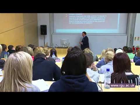 Welcome to Robert Gordon University Aberdeen 2011