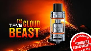 SMOK TFV8  + RBA Wicking Tutorial - The Vaping Bogan