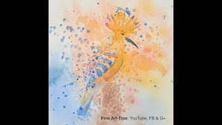How to Paint a Bird in Watercolor - Narrated - Hoopoe