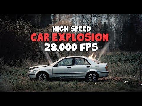 DYNAMITE CAR explosion HIGHSPEED 28K FPS !!