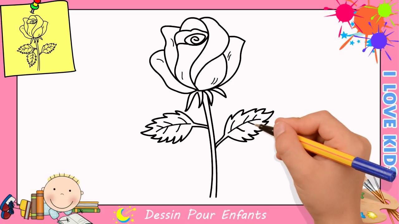 comment dessiner une rose facilement etape par etape pour enfants 3 youtube. Black Bedroom Furniture Sets. Home Design Ideas