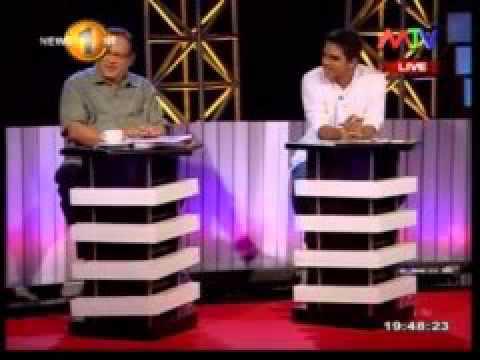 MTV Face the nation political program with Vidura Wickramanayaka