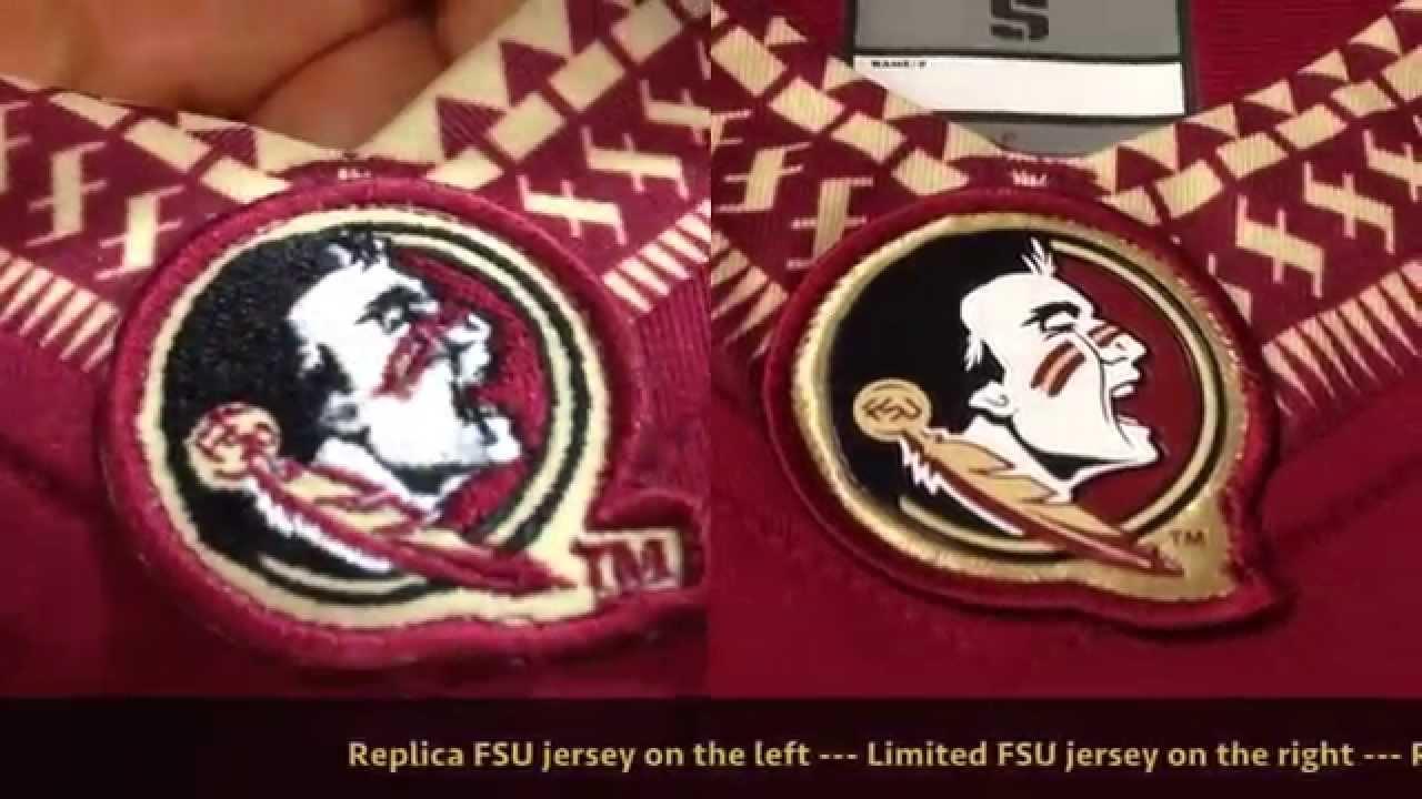quality design 6a3c9 c234c Florida State Football FSU Jersey Comparison Limited Authentic Replica