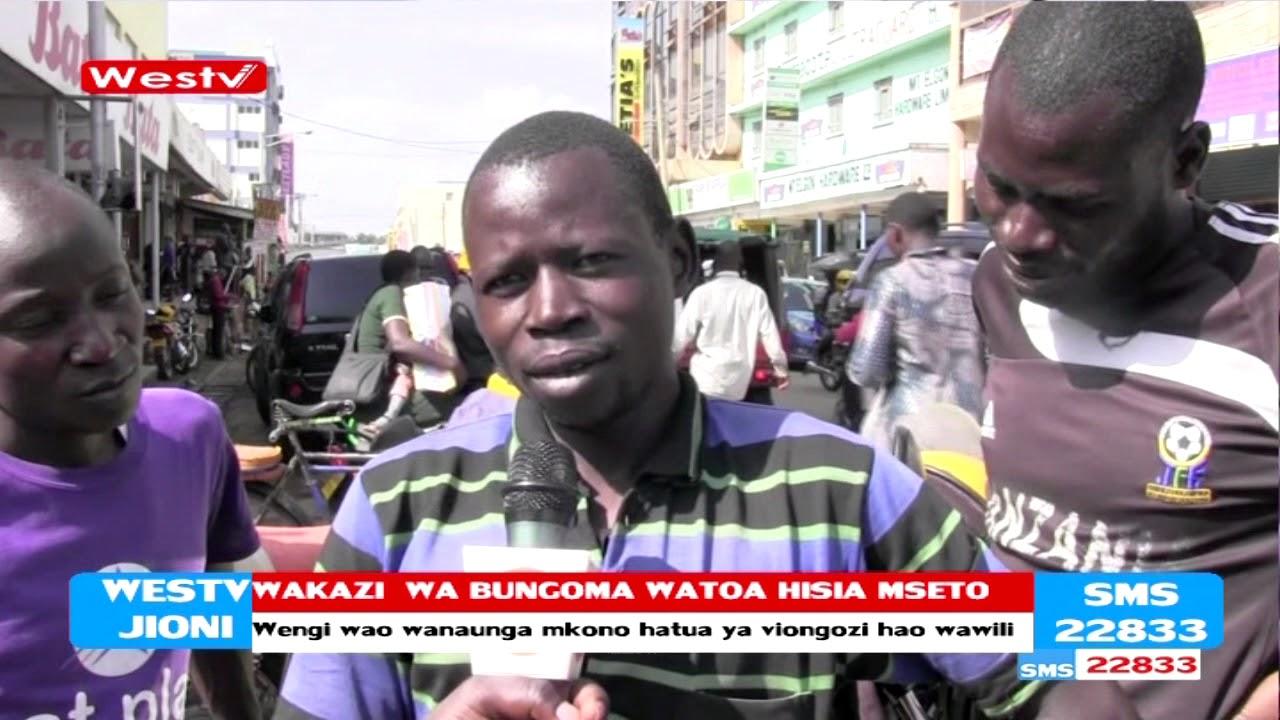 Wakaazi wa mji wa Bungoma waelezea furaha yao baada ya mkutano wa Rais Kenyatta na Raila