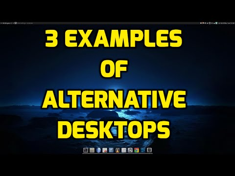 3 Examples of Alternative Linux Desktops/Window Managers