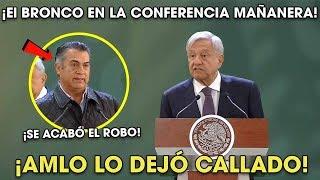 AMLO Deja Callado a El Bronco en Conferencia al dar Esta ADVERTENC1A ¡Le dijo sus verdades!