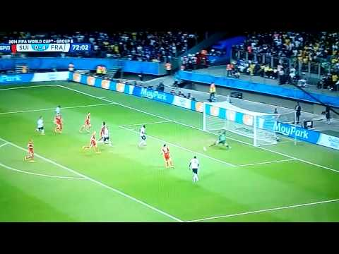 Switzerland 2-5 France Word Cup2014