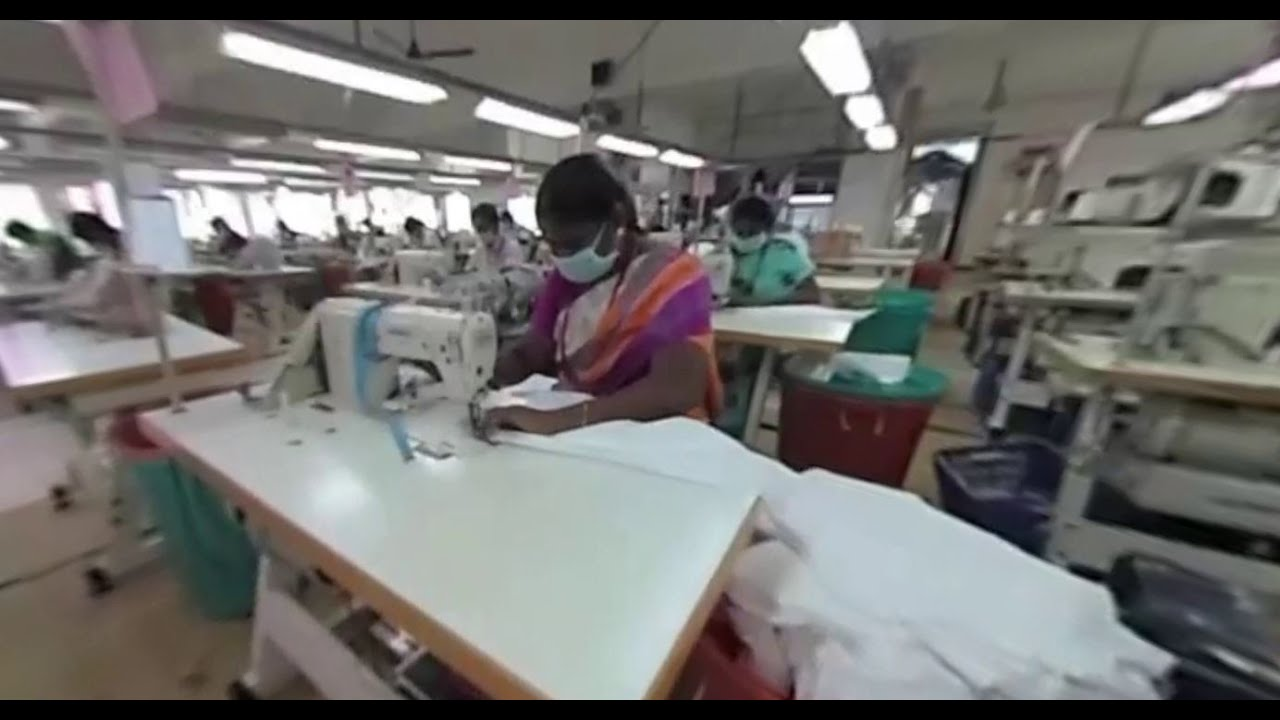 are clothes made by machines factory made clothes