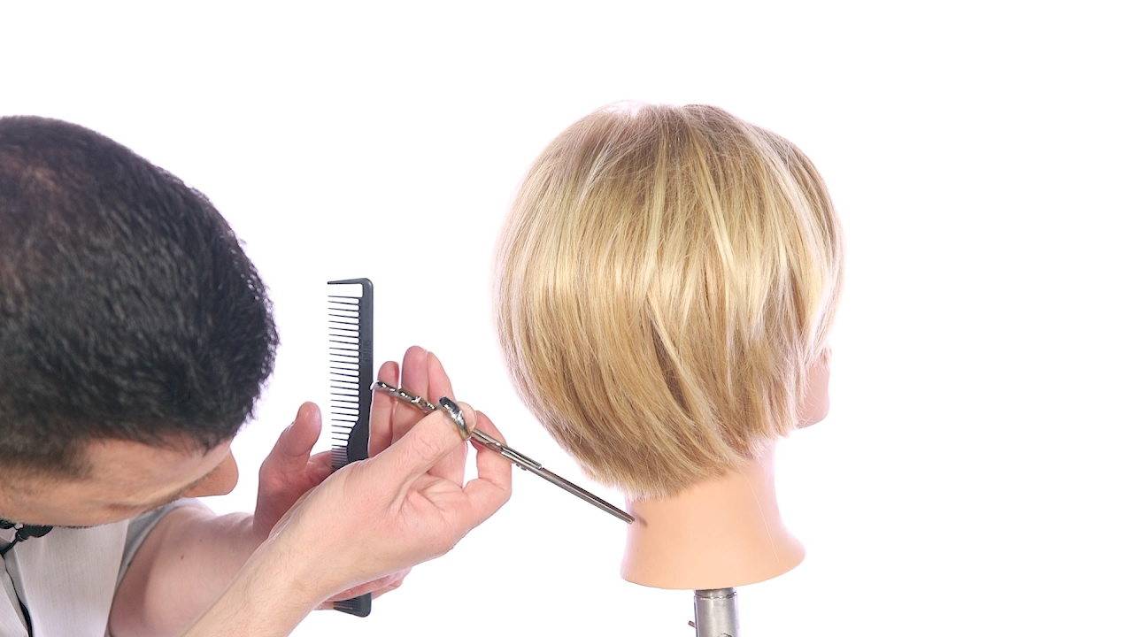 How To Cut A Textured Bob Haircut Thesalonguy Youtube