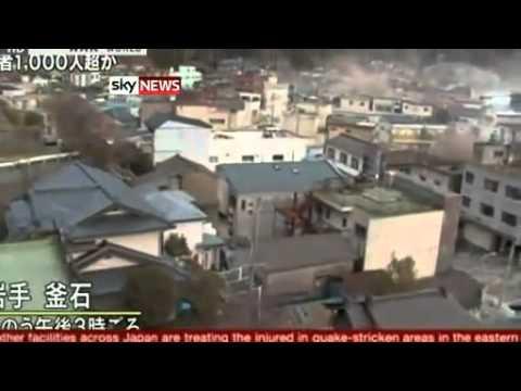 Japan before and after the tsunami earthquake 12-04-2011 meltdown Fukushima Nuclear catastrophe