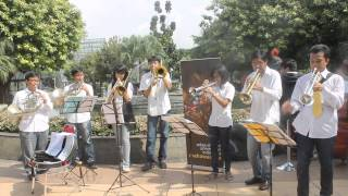 Brass performance of Konser Taman - Ode to Joy