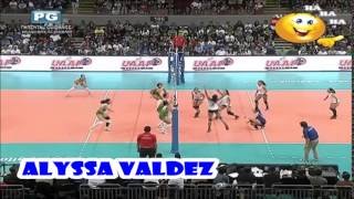 ウィングスパイカー Alyssa Valdez 😄💦 vs greenhills full screen