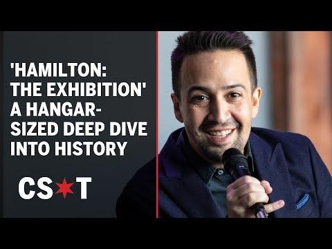 Lin-Manuel Miranda attends opening of 'Hamilton: The Exhibition'