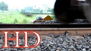 INDIAN RAILWAYS TRACK GOES UP AND DOWN AS TRAIN PASSES !!