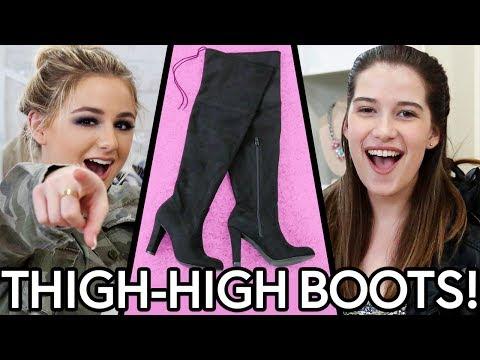 THIGH HIGH BOOTS OUTFIT CHALLENGE?! w/ Chloe Lukasiak & Marissa Rachel!