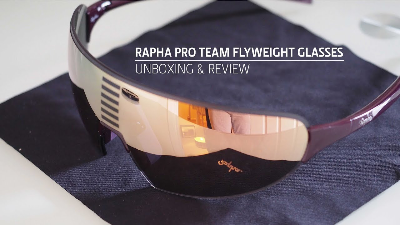7ea5d93b27 Rapha Pro Team Flyweight Cycling Glasses Unboxing   Review - YouTube