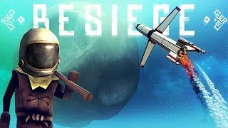 The First Besiege Citizen To The Moon! - Real Planetary Gravity Physics - Besiege Best Creations