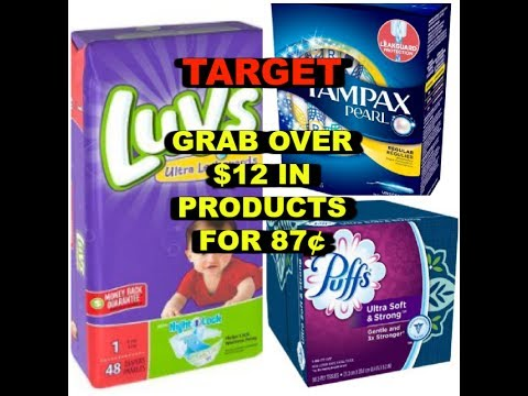 HOT TARGET DEAL:  $12 in Products for 87¢!