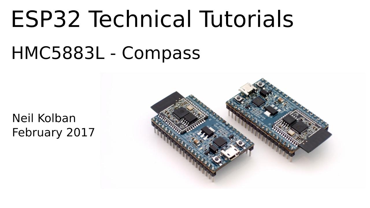 ESP32 Technical Tutorials: HMC5883L - Compass